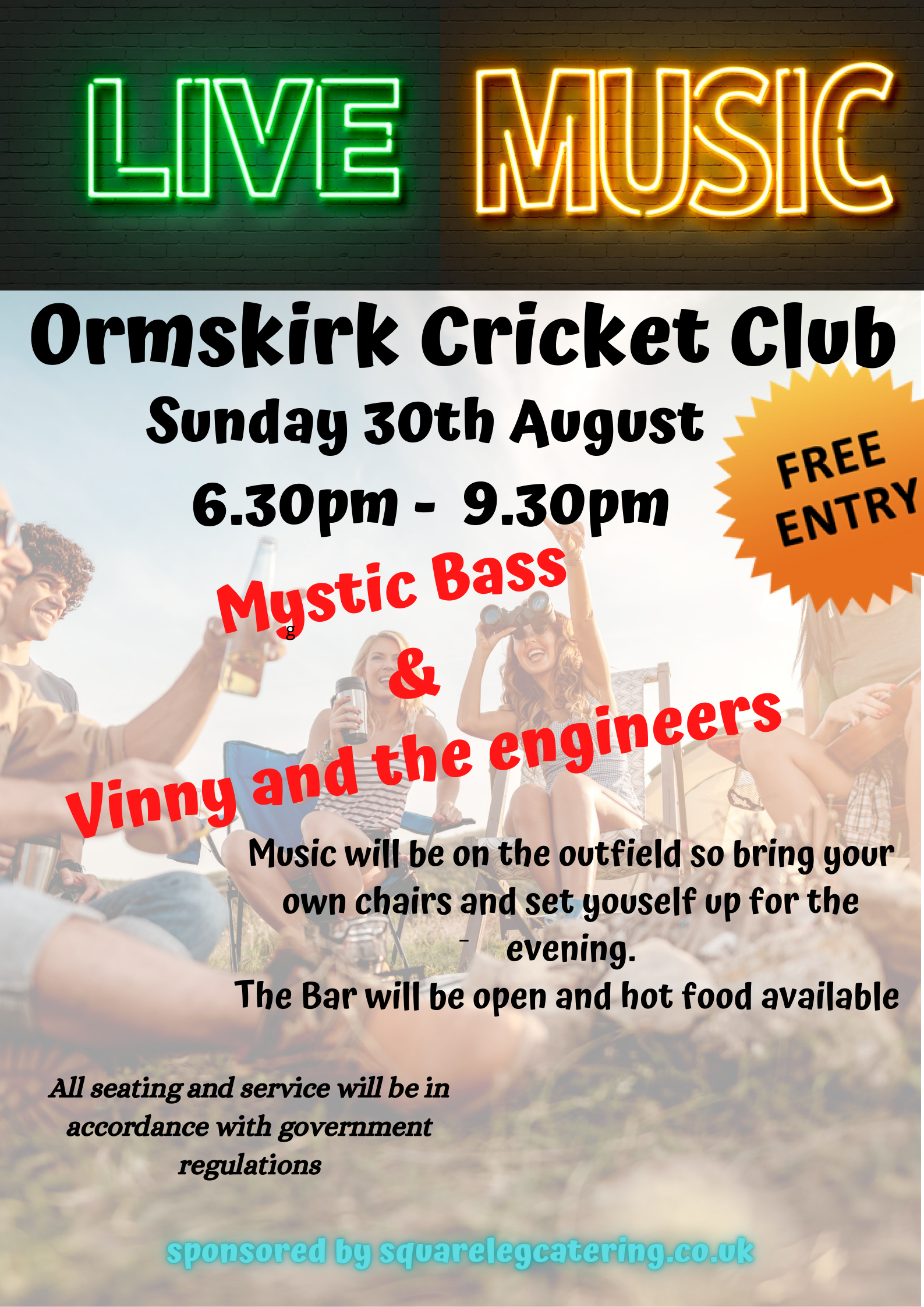 Live Music - Sunday 30th August