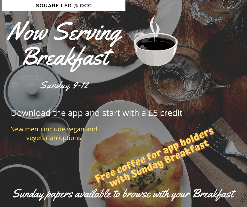 Now serving Sunday Breakfast